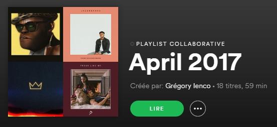 Spotify - Avril 2017